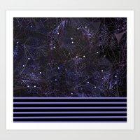 space and ocean geometry Art Print