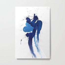 "seria ""BLUE""  title № 2 Metal Print"