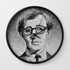 Woody Allen portrait  Wall Clock