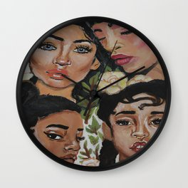Mysterious Beauties Wall Clock