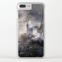 Dracula's Castle Clear iPhone Case