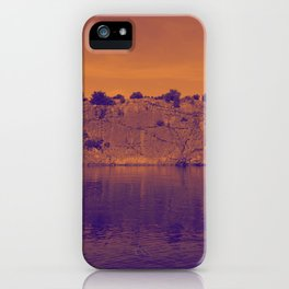 Lake Superior Rock Island Red Purple [Jordan E. Eismont] iPhone Case