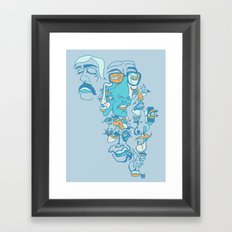 Rose Tinted Blues Framed Art Print
