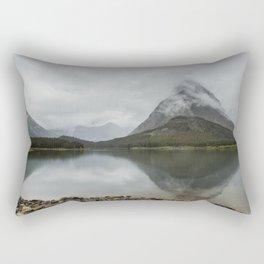 Reflection of Mountains - Glacier NP Rectangular Pillow