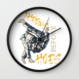 Throws Before Hoes Wall Clock