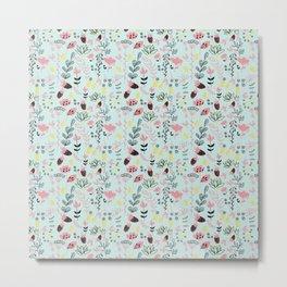 Bubble Gum Flowers Metal Print