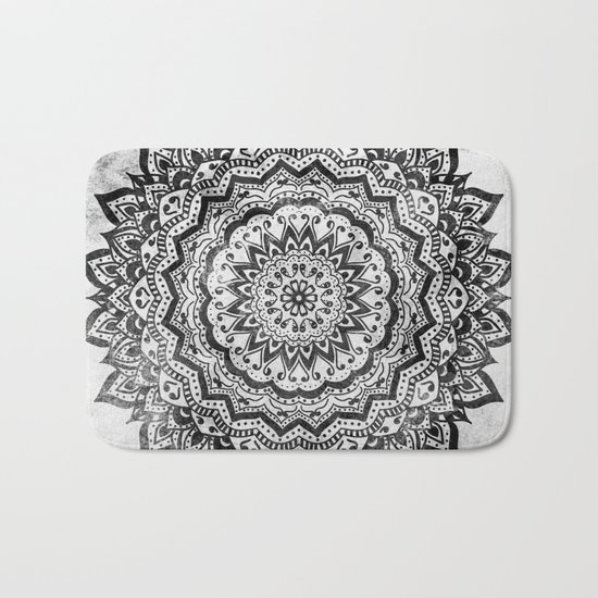 BLACK JEWEL MANDALA Bath Mat