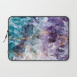Quartz Stone - Blue and Purple Laptop Sleeve