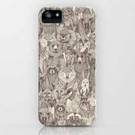canadian animals natural iPhone Case
