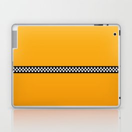 NY Taxi Cab Yellow with Black and White Check Band Laptop & iPad Skin