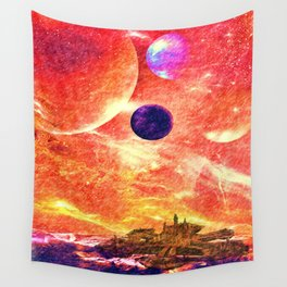 Distant worlds Wall Tapestry