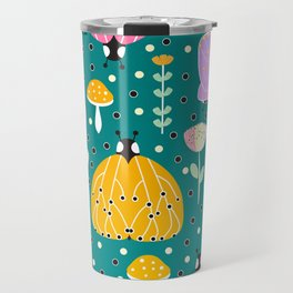 Bugs and mushrooms Travel Mug