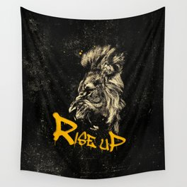 Rise Up - Roaring Lion Revolution Art Wall Tapestry