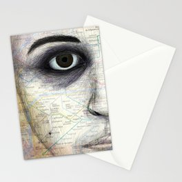 Map Portrait Stationery Cards