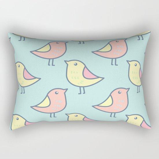 Cute Bird Pattern Rectangular Pillow