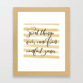 Great Things Print Framed Art Print