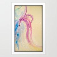 Water color Bustle Art Print