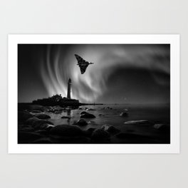 Auroral Splendour For The Vulcan Art Print