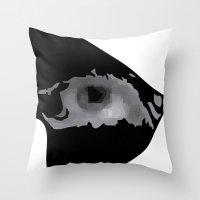 nerd Throw Pillows featuring Nerd by igcarr