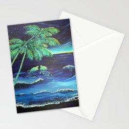 2 Honu at Night  Stationery Cards