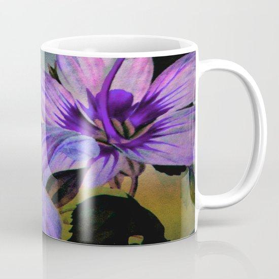 Vintage Painted Lavender Lily Mug