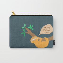 Sloth on the hang Carry-All Pouch