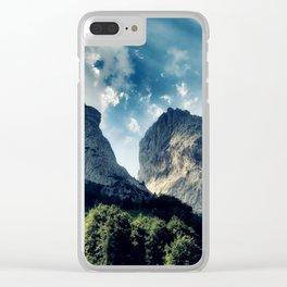 Austrian Mountain Clear iPhone Case