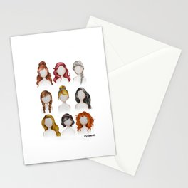 Dis ney Princess Hairstyles Drawing Stationery Cards
