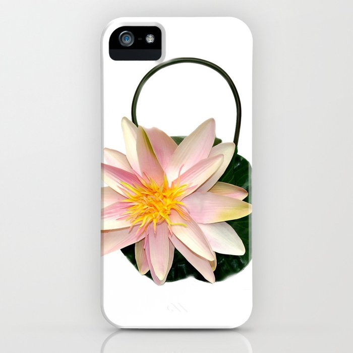 Pink Water Lily Handbag iPhone Case