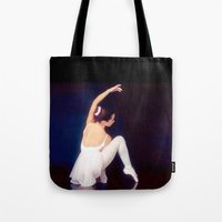 ballerina Tote Bags featuring Ballerina by Just Art