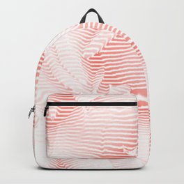 Floral coral - Romantic illusion of roses in seamless stripes Backpack