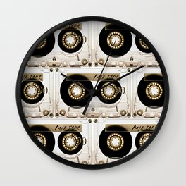 Retro classic vintage transparent mix cassette tape Wall Clock