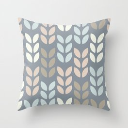 Scandinavian leaves pattern design. Throw Pillow
