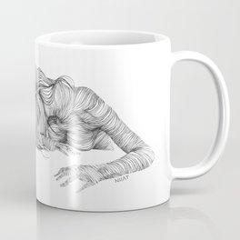 line drawing of a nude model Coffee Mug