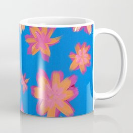Blue Orange Tropical Coffee Mug