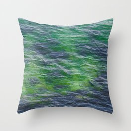 Sea surface pattern Throw Pillow
