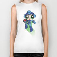 mega man Biker Tanks featuring Mega Puff Man by Unihorse