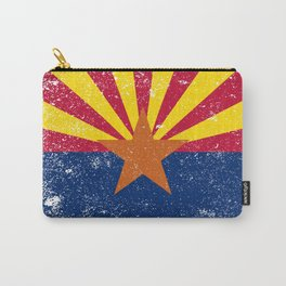 Arizona State Flag Grunge Carry-All Pouch