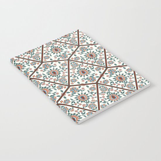 Geometric Deco Floral Notebook