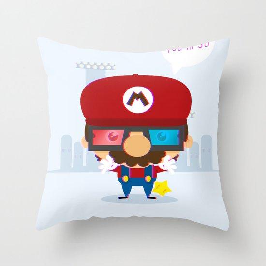 mario 3d Throw Pillow