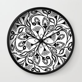 Intricate Floral Design Wall Clock