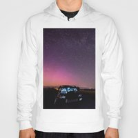 subaru Hoodies featuring Nocturnal Subaru by Race Jones