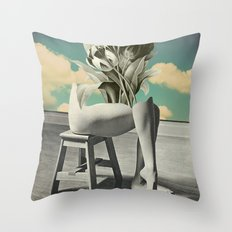 She's Gone Throw Pillow