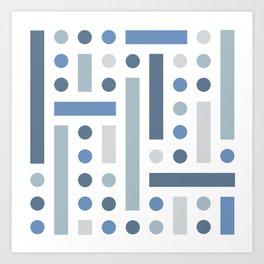 Brevard Blue Shapes Art Print