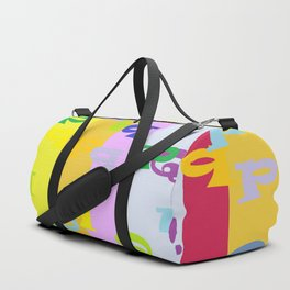 Mind Your P's and Q's Duffle Bag
