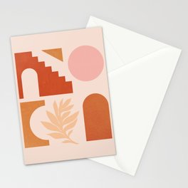 Abstraction_SHAPES_Architecture_Minimalism_002 Stationery Cards
