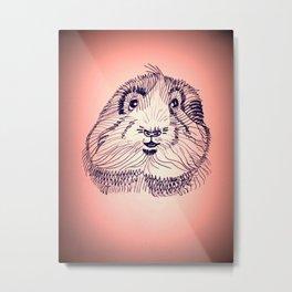 Peachy Guinea Pig Metal Print