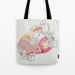 Collage with Medical Illustration Tote Bag