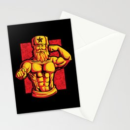 Soviets At The Gym | Fitness Training Muscles Stationery Cards