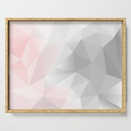 pink and gray geometric low poly background Serving Tray